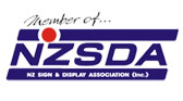 Member of NZ Sign and Display Association